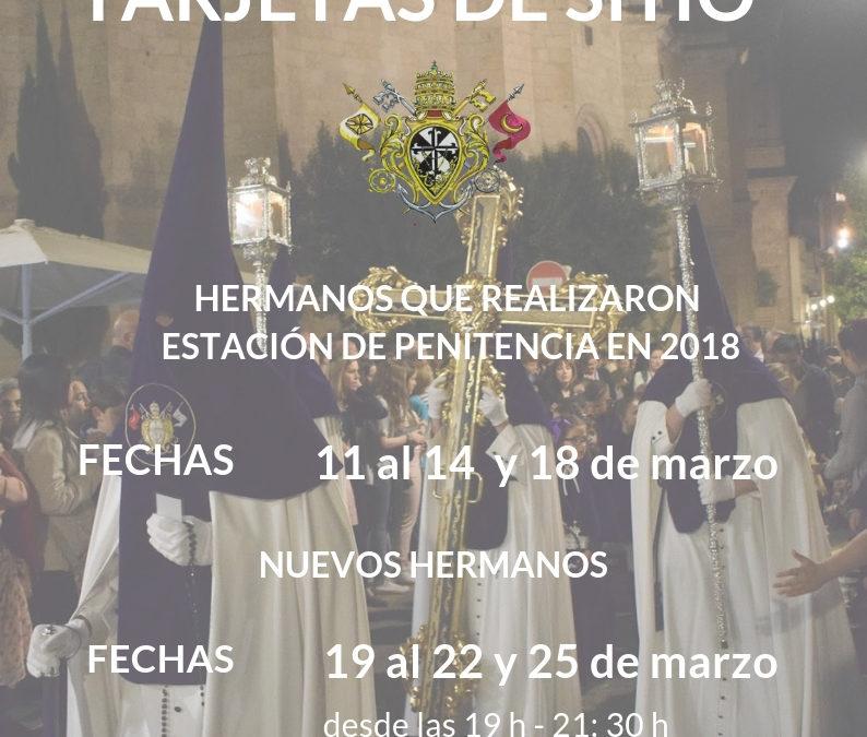 TARJETAS DE SITIO 2019